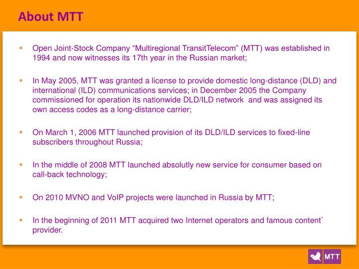 About MTT