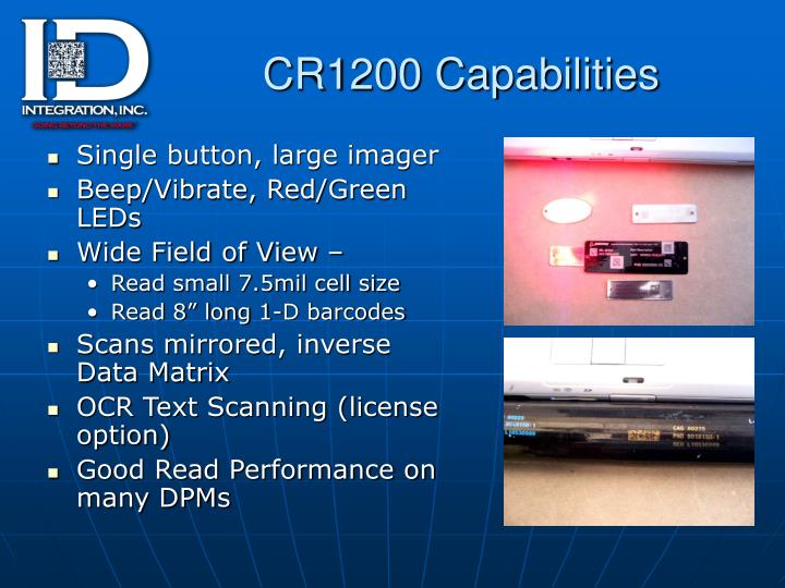 CR1200 Capabilities