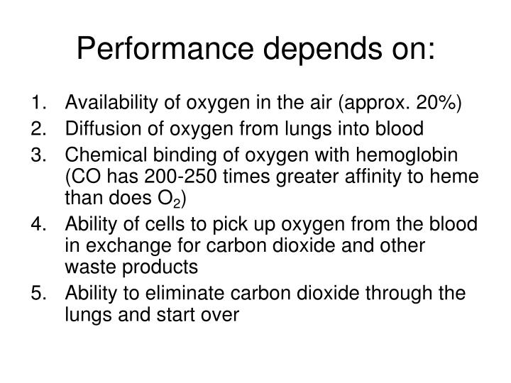 Performance depends on: