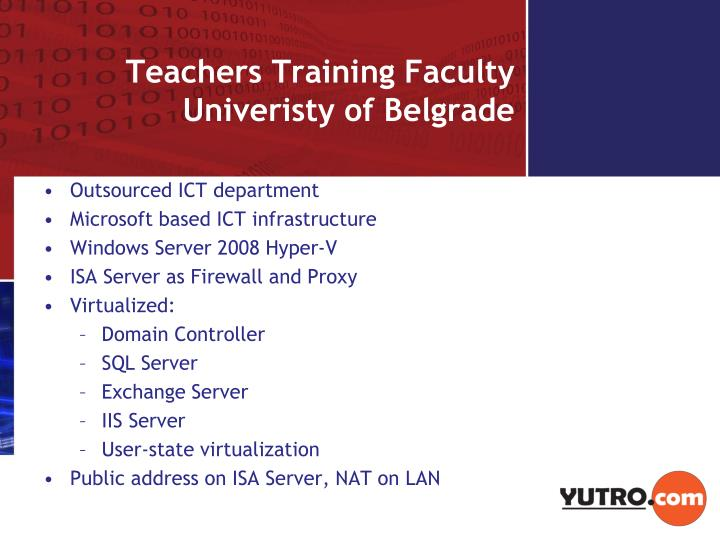 Teachers training faculty univeristy of belgrade