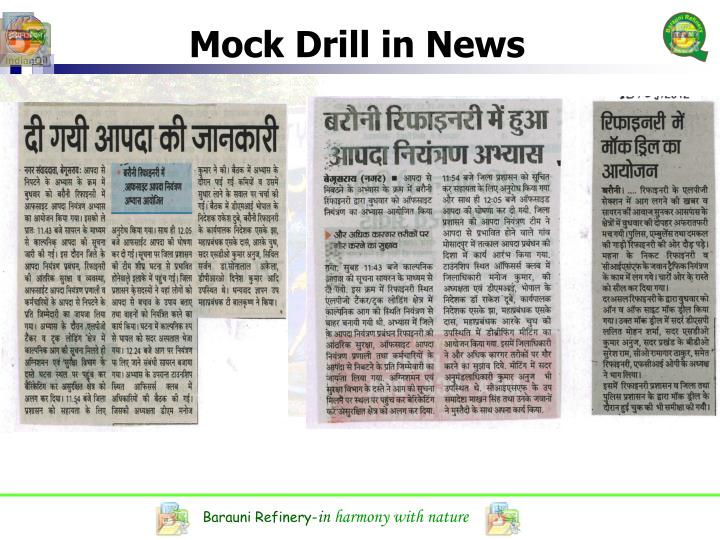 Mock Drill in News