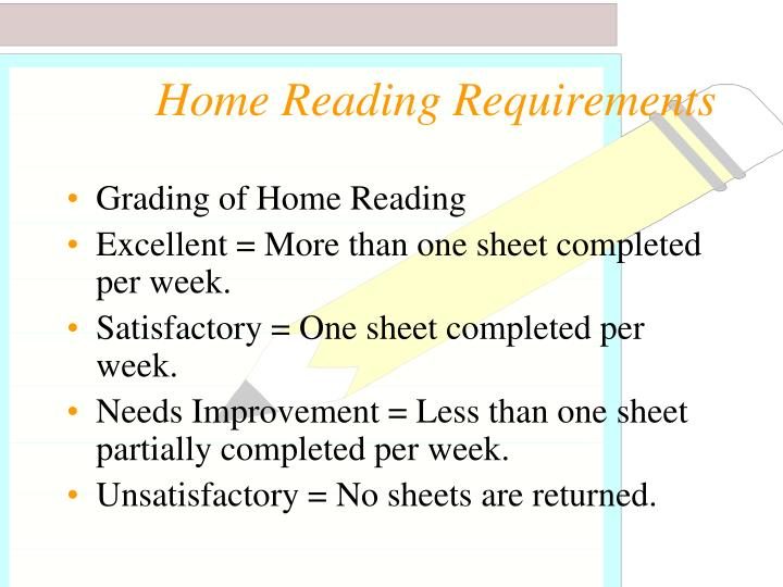 Home Reading Requirements