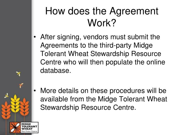 How does the Agreement Work?