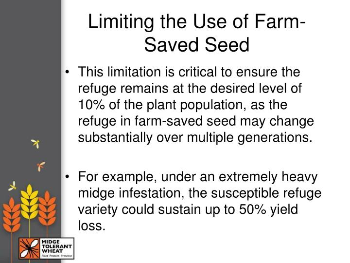 Limiting the Use of Farm-Saved Seed