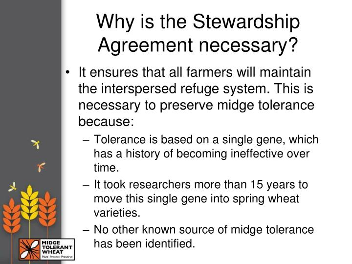 Why is the Stewardship Agreement necessary?