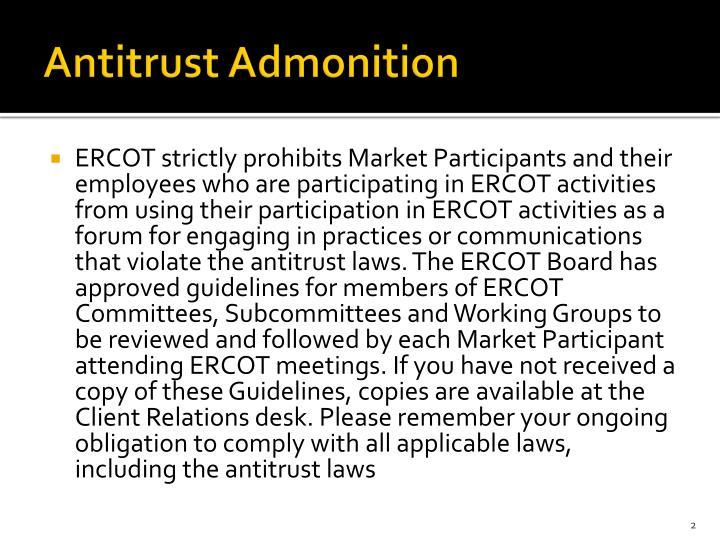 Antitrust Admonition