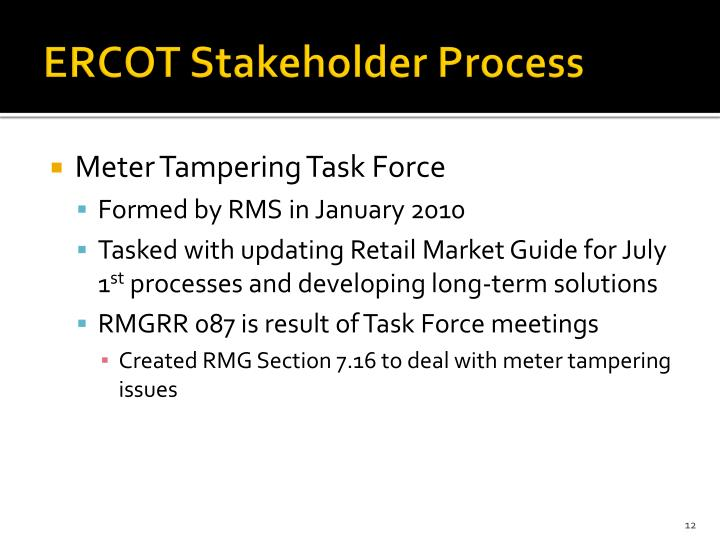 ERCOT Stakeholder Process