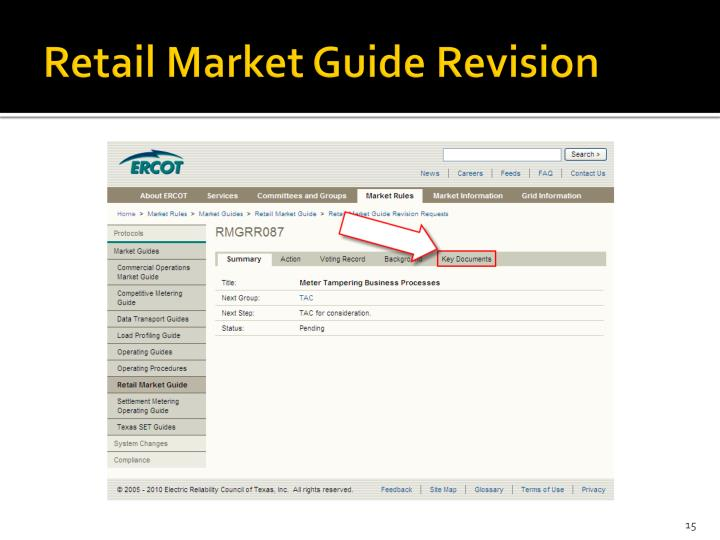 Retail Market Guide Revision