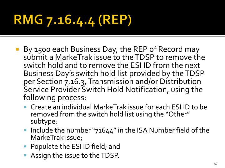 RMG 7.16.4.4 (REP)
