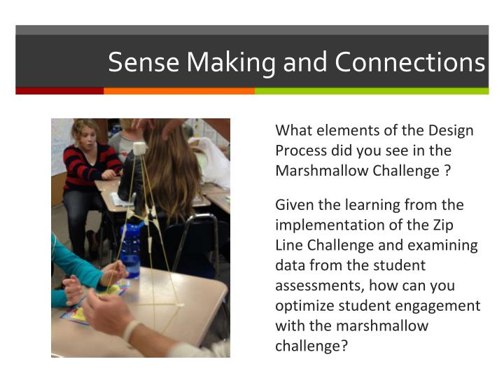 Sense Making and Connections