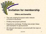 invitation for membership