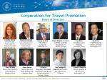 corporation for travel promotion board of directors