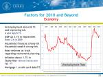 factors for 2010 and beyond economy