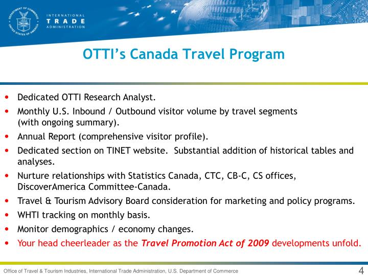 OTTI's Canada Travel Program