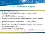 otti s canada travel program