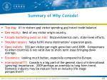 summary of why canada