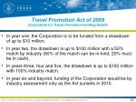 travel promotion act of 2009 corporation for travel promotion funding details