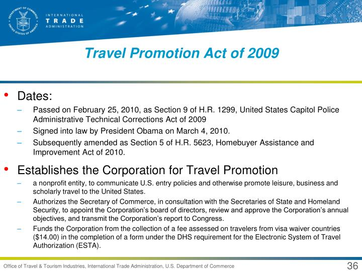 Travel Promotion Act of 2009