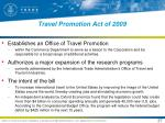 travel promotion act of 20091