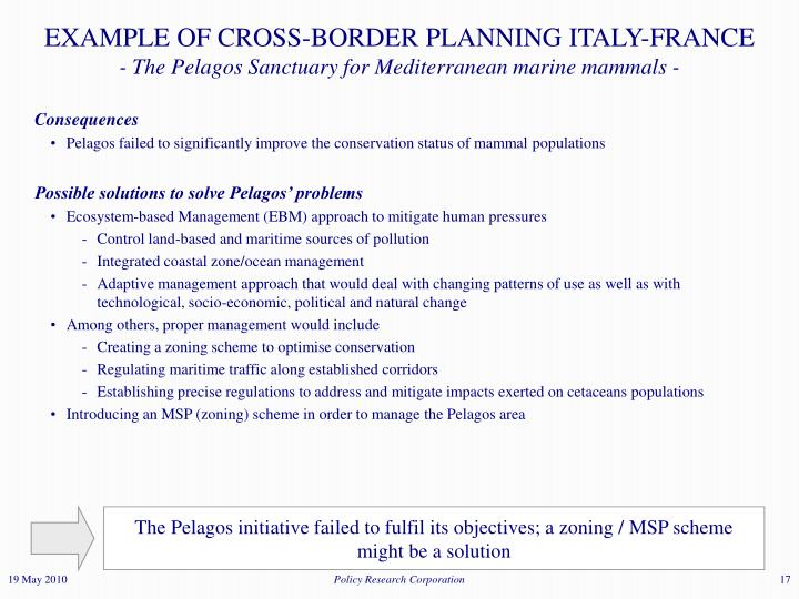 EXAMPLE OF CROSS-BORDER PLANNING ITALY-FRANCE
