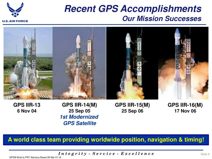 Recent GPS Accomplishments