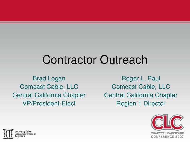 contractor outreach
