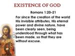 existence of god15
