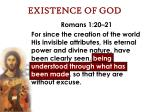 existence of god16