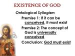 existence of god29