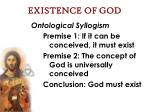 existence of god33