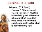 existence of god60