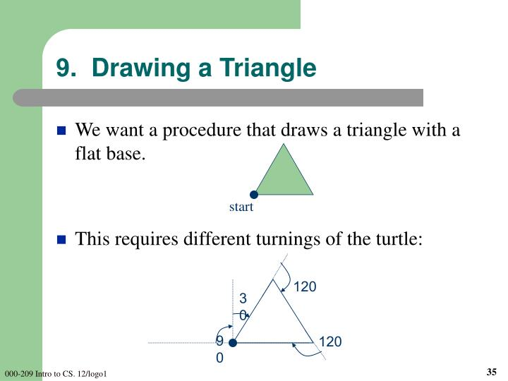 9.  Drawing a Triangle