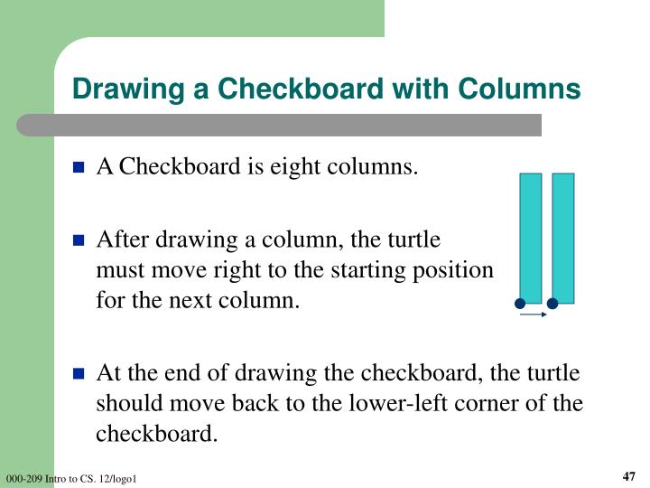 Drawing a Checkboard with Columns