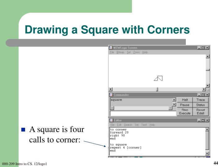 Drawing a Square with Corners