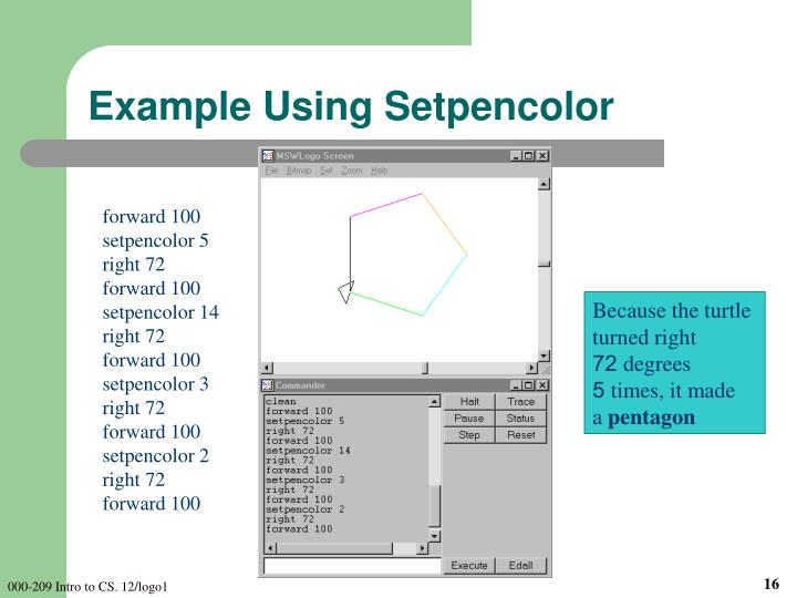 Example Using Setpencolor
