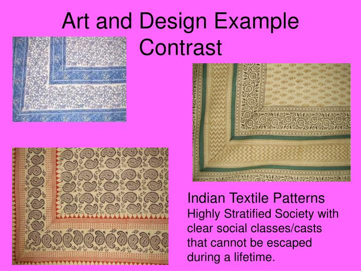 Art and Design Example Contrast