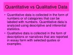 quantitative vs qualitative data