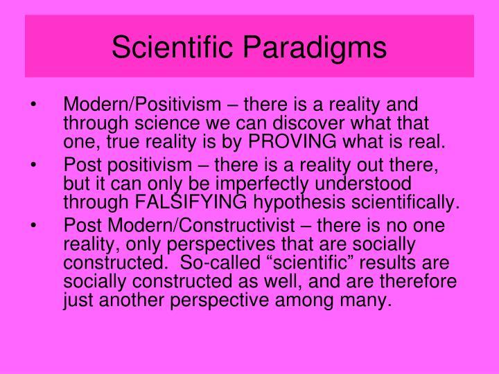 Scientific Paradigms