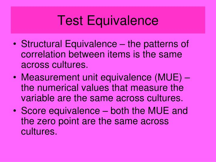 Test Equivalence