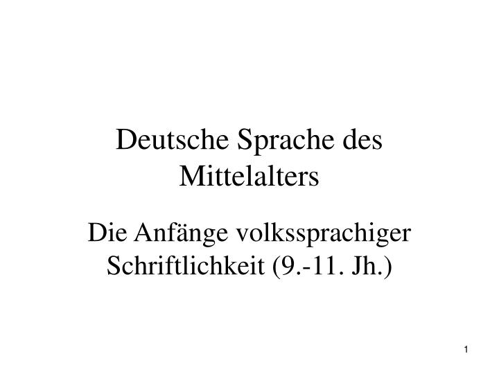 Deutsche Sprache des Mittelalters
