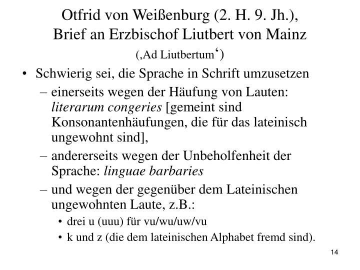 Otfrid von Weißenburg (2. H. 9. Jh.),