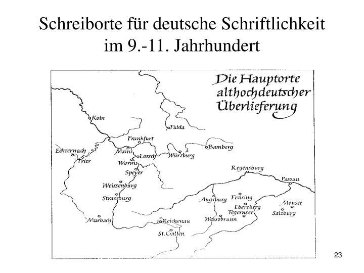 Schreiborte für deutsche Schriftlichkeit