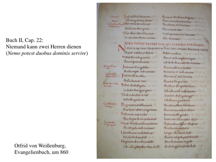Buch II, Cap. 22: