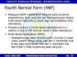 fourth normal form 4nf
