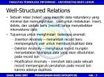 well structured relations