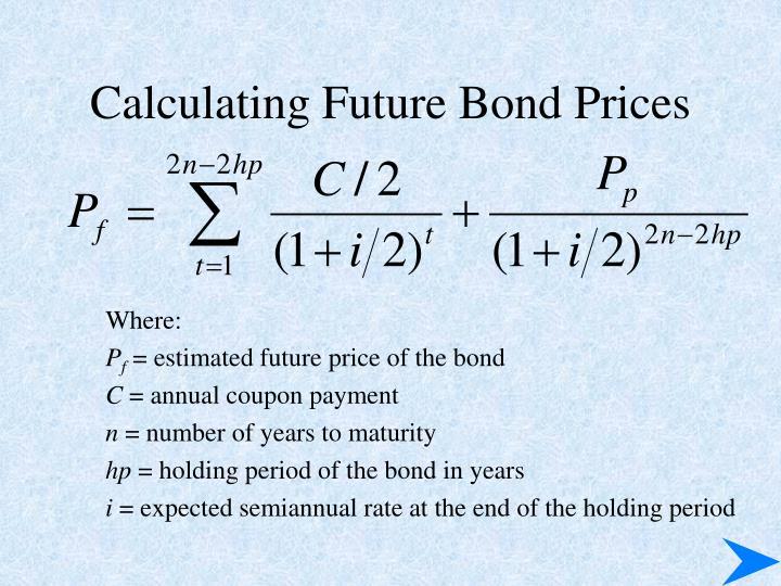 Calculating Future Bond Prices