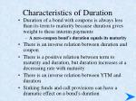 characteristics of duration