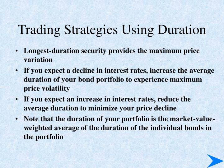 Trading Strategies Using Duration
