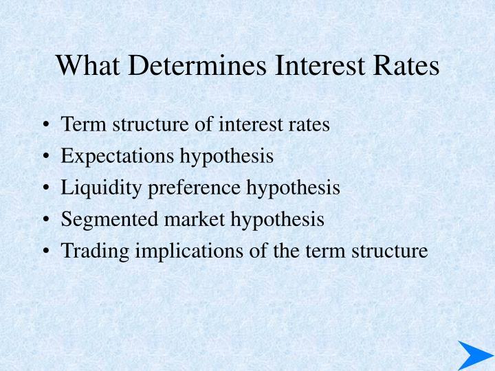 What Determines Interest Rates