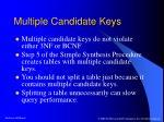 multiple candidate keys